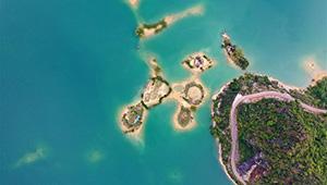 Landschaft des Sees Haokun in Chinas Guangxi