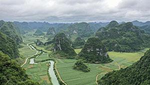 Landschaft des Kreises Longan in Chinas Guangxi