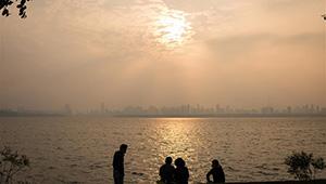 Sonnenuntergang in Wuhan