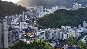 Ansicht des Kreises Zhen'an in Chinas Shaanxi