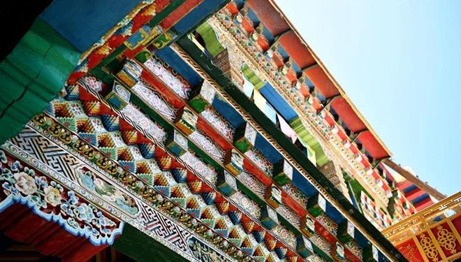 Ansicht einer künstlerischen Residenz in Tibet