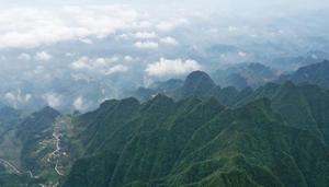 Ansicht des Landschaftsgebiets Chuanhegai in Chongqing