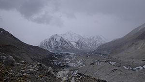 Ansicht des Berges Qomolangma
