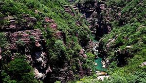 Landschaft der Schulcht Hongshi in Chinas Henan