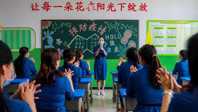 Grundschulen führen Übungen zur Prävention und Kontrolle von COVID-19 in Handan durch