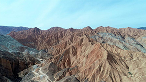 Danxia-Landform in Chinas Qinghai