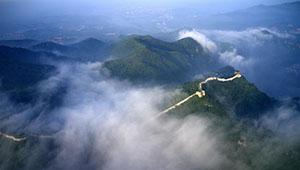 Landschaft der Chinesischen Mauer Lengkou in Chinas Hebei