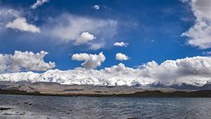 Landschaft des Plateaus Pamir in Chinas Xinjiang