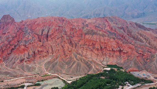 Ansicht der Landform Danxia in Qinghai