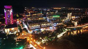 Nachtansicht der Stadt Liuzhou in Chinas Guangxi