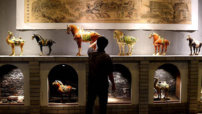 Kunst des Porzellans aus Gongxianischem Ofen in Chinas Henan