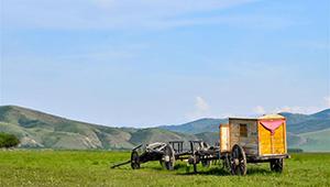 Landschaft der Weide Ulan Mod in Chinas Innerer Mongolei