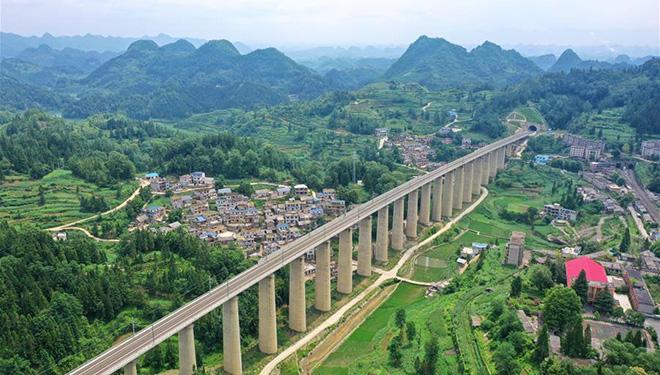 Intercity-Eisenbahnlinie Anshun-Liupanshui für die Eröffnung vorbereitet