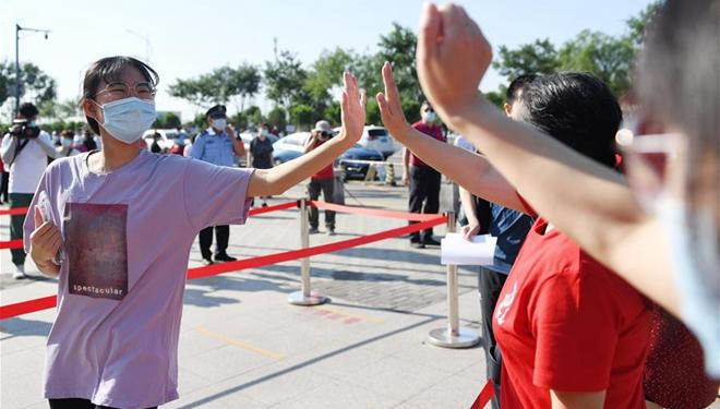 Hochschulaufnahmeprüfung Chinas findet unter strenger Kontrolle der Epidemie statt