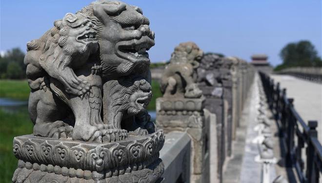 Ansicht der Lugou-Brücke in Beijing