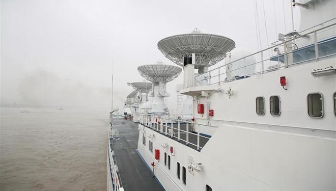 Chinas Bahnverfolgungsschiff Yuanwang-6 setzt Segel für Überwachungsmissionen