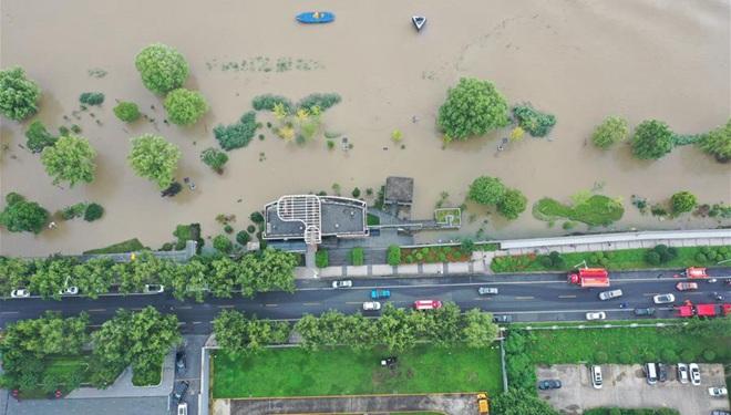 Wasserstand im Nanjing-Abschnitt des Jangtse überschreitet Warnstand