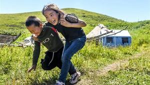 In Bildern: Sommerwiese im Kreis Tekes von Xinjiang