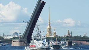 Russland feiert Tag der Marine in St. Petersburg