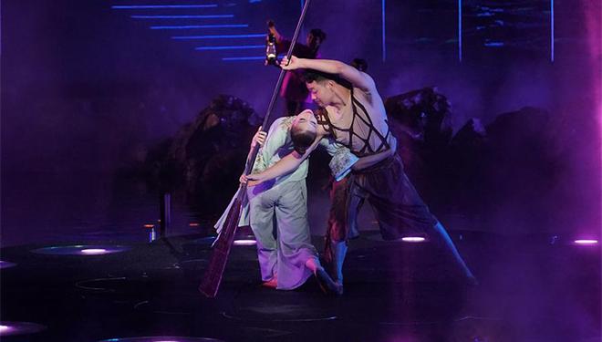 In Bildern: Probe einer Outdoor-Performance in Qinhuangdao