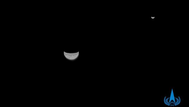 Chinas Marssonde Tianwen-1 schickt Bilder von Erde und Mond zurück