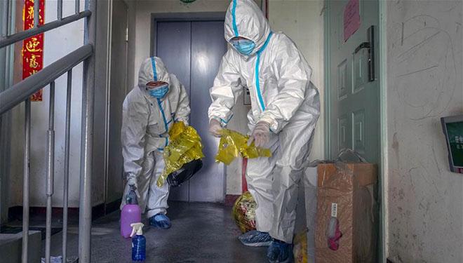 Gemeindearbeiter in Ürümqi arbeiten unermüdlich während der COVID-19-Epidemie