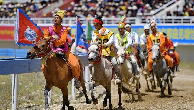 Pferderennen-Festival Nagqu in Tibet eröffnet