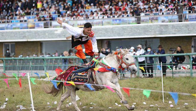 Gesar-Pferderennenfestival findet in Chinas Gansu statt