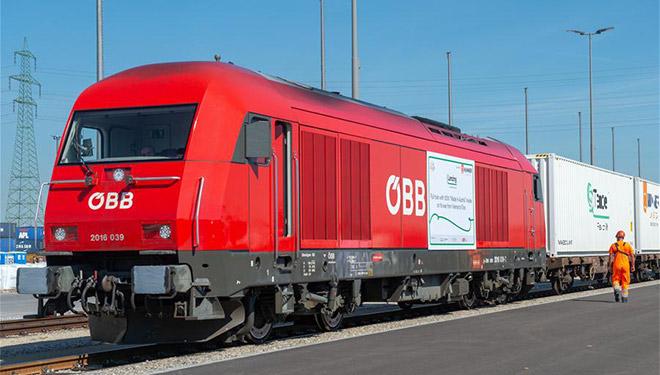 """Zug mit """"Made in Austria""""-Produkten fährt von Wien nach China"""