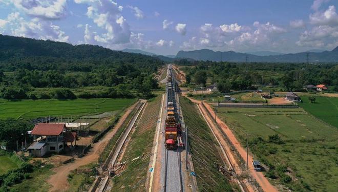 China-Laos-Eisenbahn wird im Dezember 2021 abgeschlossen werden