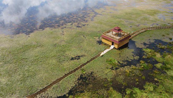 Landschaft des Gahai-Sees in Gannan von Chinas Gansu