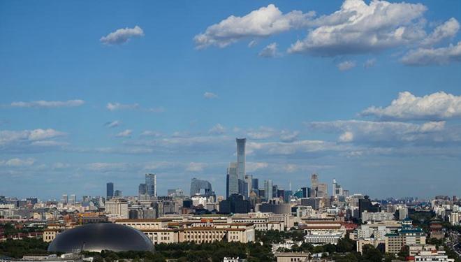 Ansicht der Innenstadt von Beijing