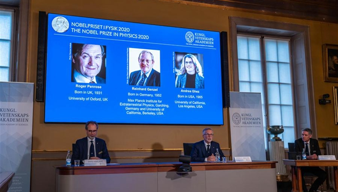 Drei Wissenschaftler teilen sich Physik-Nobelpreis 2020 für Forschung zum Schwarzen Loch