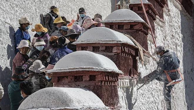 Jährliche Renovierung des alten Architekturkomplexes in Lhasa gestartet