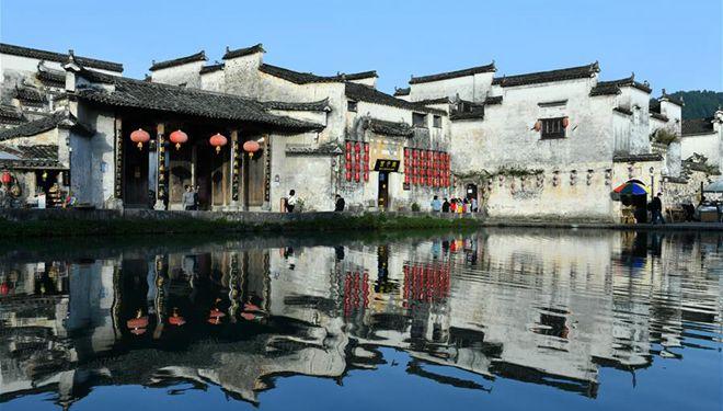 Malerisch schönes Dorf Hongcun mit über 800-jähriger Geschichte