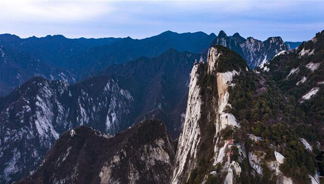 Berg Huashan im Morgengrauen