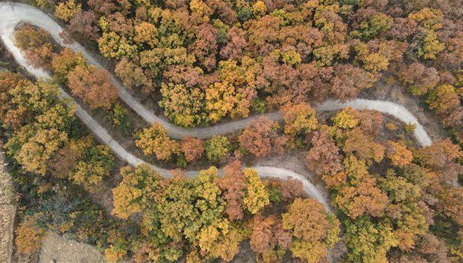 Herbstlandschaft des Taihang-Berges in Hebei
