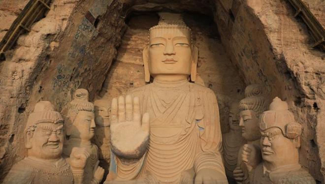 In Bildern: Tiantishan-Grotten in Provinz Gansu