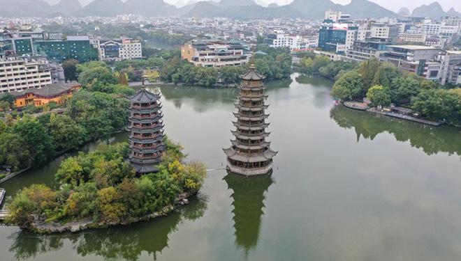 Landschaft der Stadt Guilin