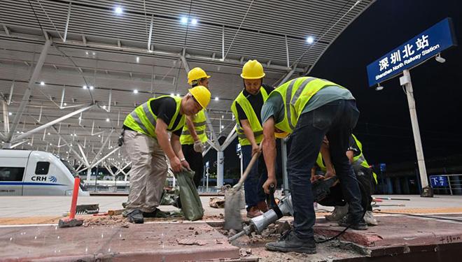 Wiederaufbau des Shenzhen-Nordbahnhofs tritt in Endphase ein