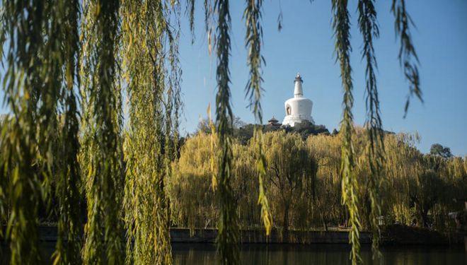 Blick auf Beijing im November