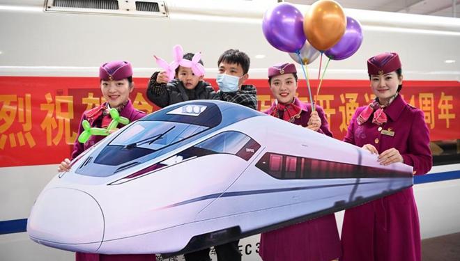 Hochgeschwindigkeitsstrecke Chongqing-Wanzhou feiert 4-jähriges Jubiläum