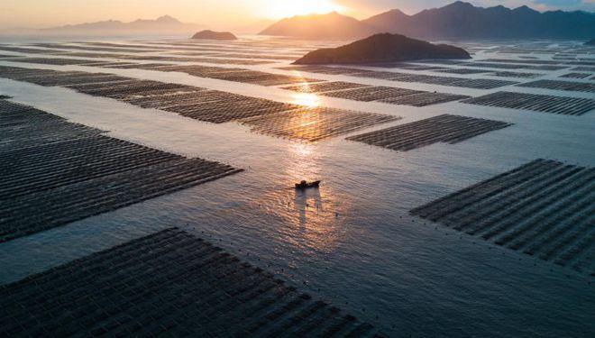 Sonnenuntergangslandschaft in Sansha von Fujian