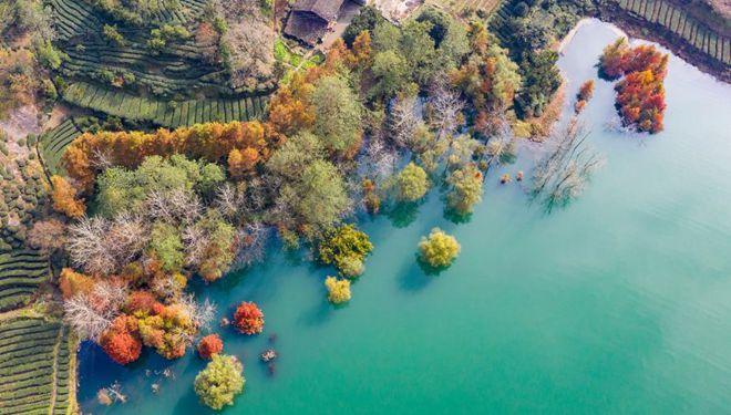 Winterlandschaft im Kreis Zigui in Hubei