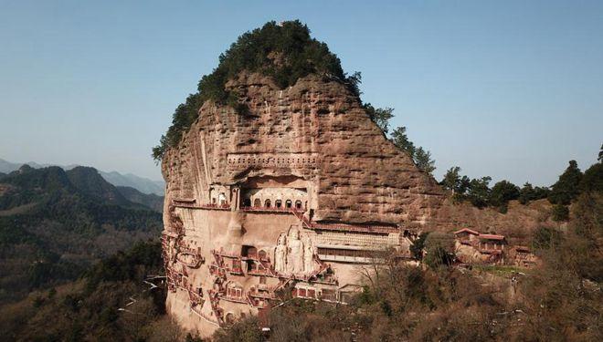 In Bildern: Maiji-Berggrotten in Tianshui von Gansu