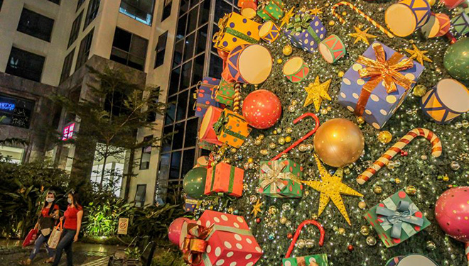 Weihnachtsausstellung in Manila