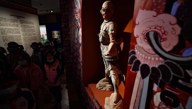 Mehr als 100 Kunstwerke aus Dunhuang-Grotten im Museum Hainan ausgestellt