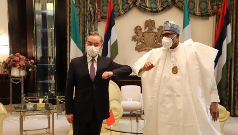 Nigerianischer Präsident trifft Wang Yi
