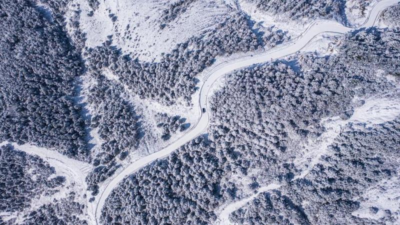 Schneelandschaft in Pingdi von Panzhou in Chinas Guizhou