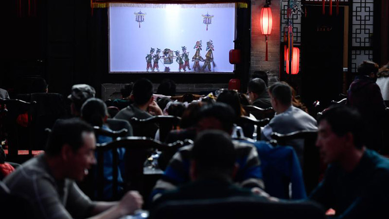 Kulturelle Veranstaltungen finden vor dem bevorstehenden chinesischen Laternenfest in Chinas Qinghai statt